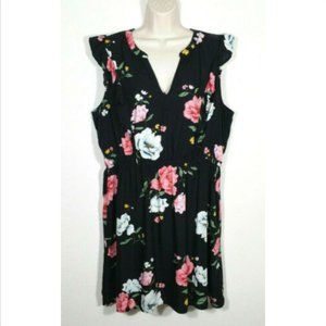OLD NAVY A-line Dress Ruffle Floral 3276E1